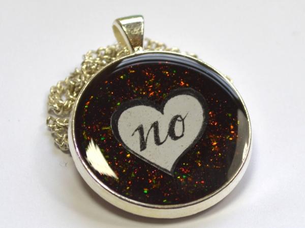 Just No Feminist Multichrome Glitter Pendant