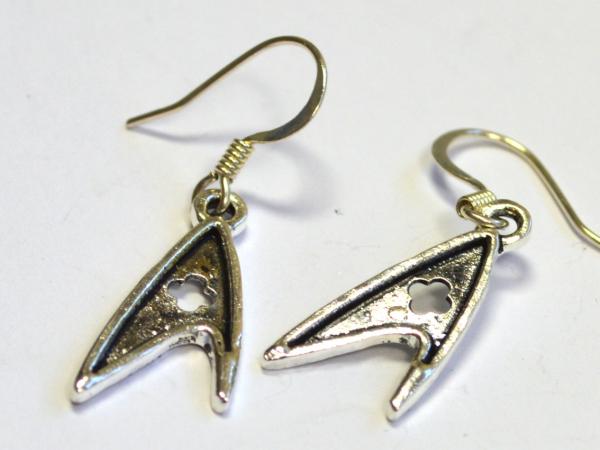 Star Trek TOS Federation Medical Insignia Dangle Earrings