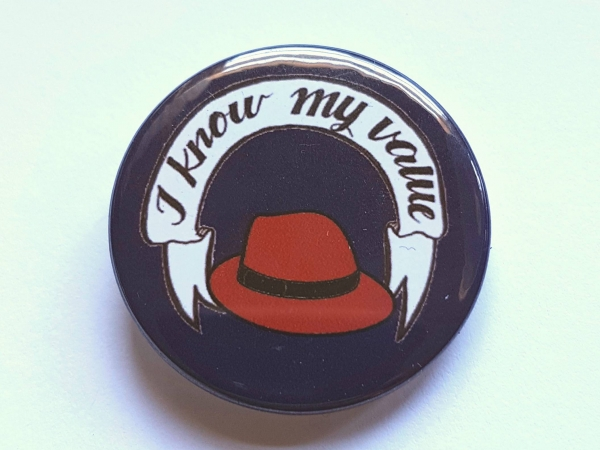 """Agent Carter """"I Know My Value"""" Badge Pinback Button"""