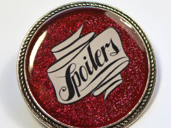 "Doctor Who River Song ""Spoilers"" Resin Brooch"