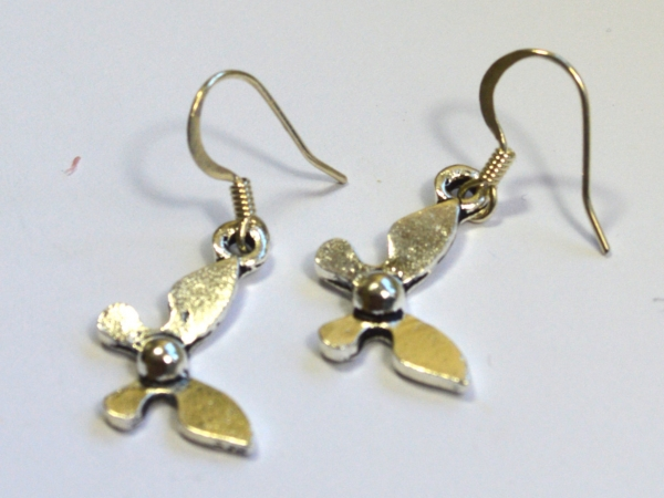 Legend of Zelda Navi Silver Dangle Earrings