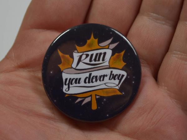 "Dr.Who Doctor Who Clara ""Run, You Clever Boy"" Pinback Button Badge"