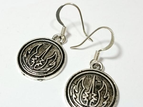 Jedi Order Symbol Star Wars Silver Earrings