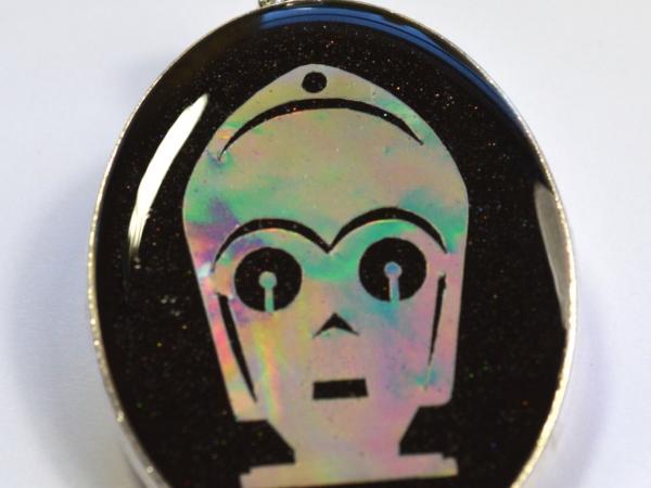 C3P0 Star Wars Robot Holographic Pendant