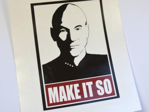 Star Trek Next Generation Picard Make It So Sticker