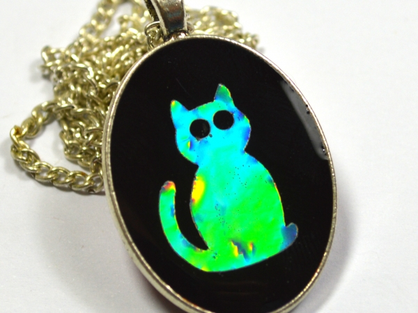 Holographic Cat Necklace