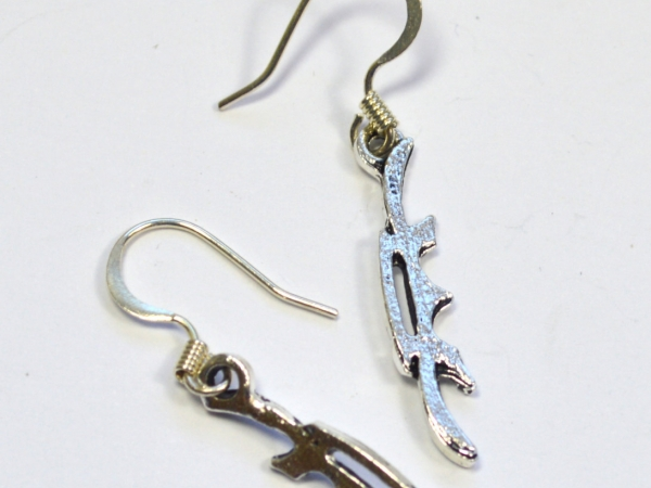 Star Trek Klingon Bat'leth Silver Earrings