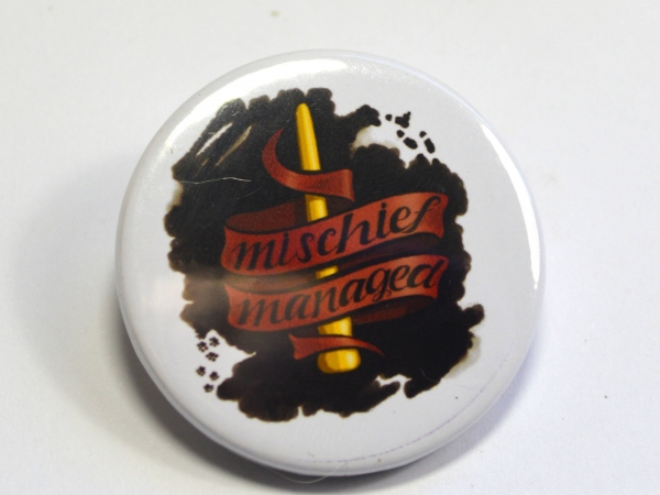 Harry Potter Gryffindor Mischief Managed Badge