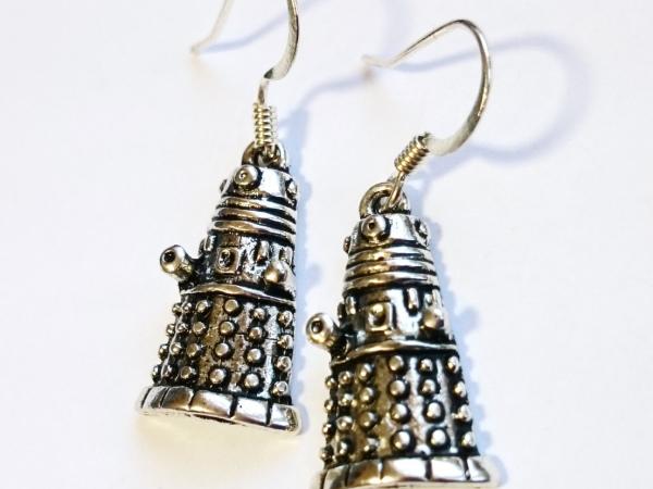 Doctor Who Dalek Silver Earrings