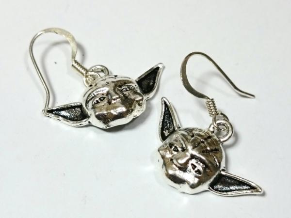 Yoda Star Wars Silver Earrings