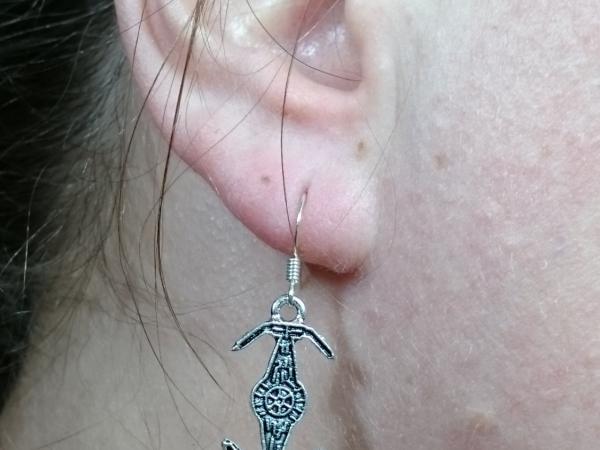 TIE Fighter Star Wars Silver Earrings