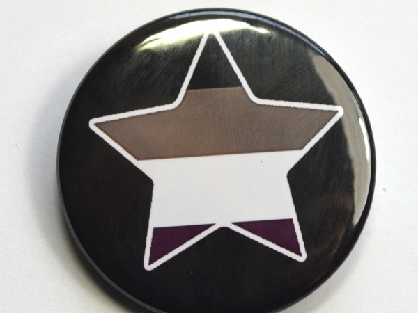 LGBTQIA Galaxy Asexual Star Badge