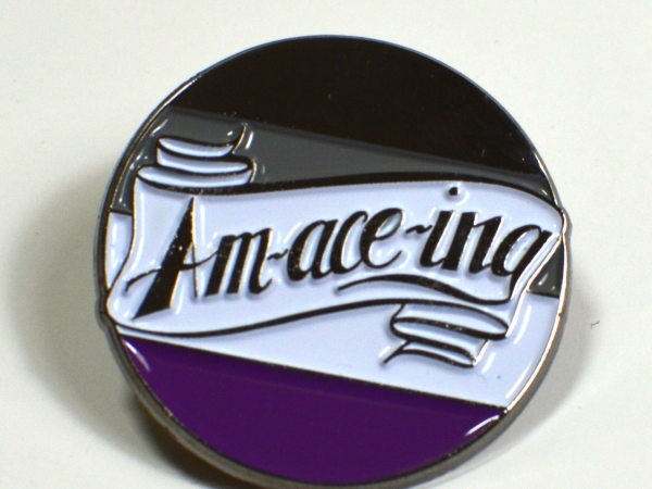 Am-ace-ing Asexual Pride Enamel Pin Queer LGBTQIA Ace Pride