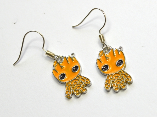Chibi Baby Groot Guardians of the Galaxy Earrings
