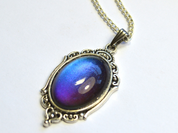 Multichrome Purple to Blue Shifting Victorian Gothic Pendant