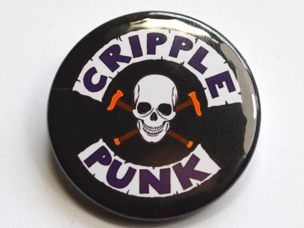 Cripple Punk Skull Disability Badge