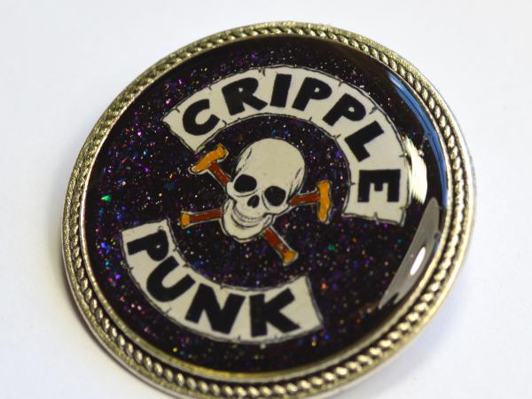 Cripple Punk Disability Spoonie Resin Brooch
