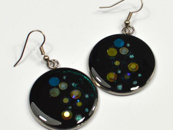Diamante rhinestone Swarovski crystal handmade earrings