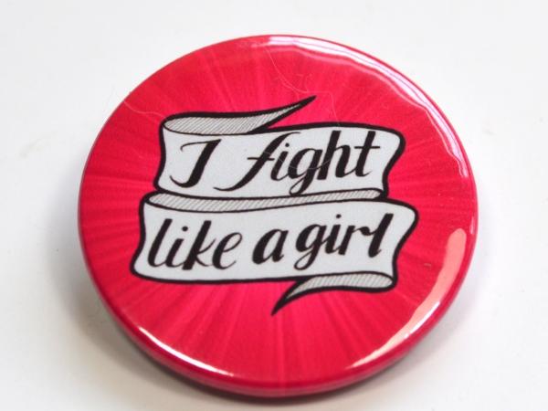 "Feminist ""I Fight Like A Girl"" Button Badge"