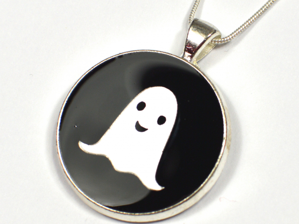 Ghost Kawaii Silver Black Cute