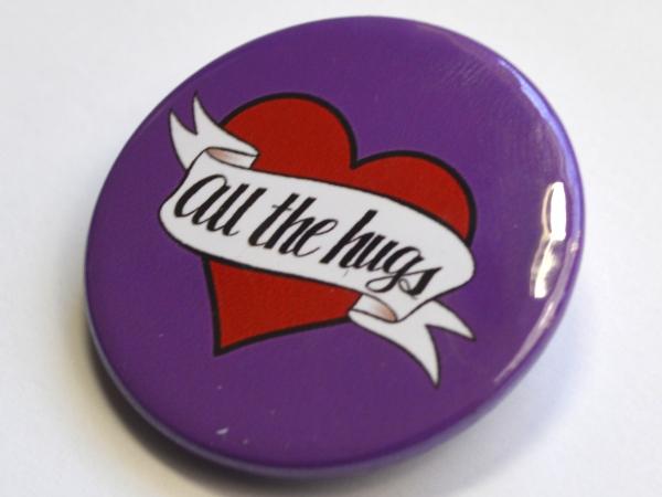 All The Hugs Heart Badge