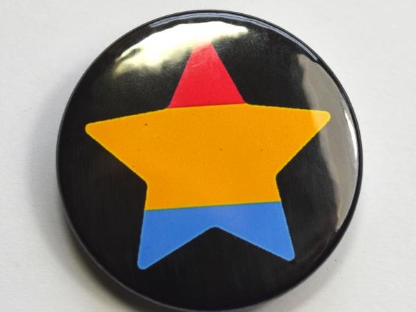 LGBTQIA Galaxy Pansexual Star Badge