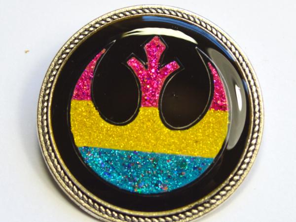 Pan Flag Rebel Alliance Star Wars Glitter Brooch