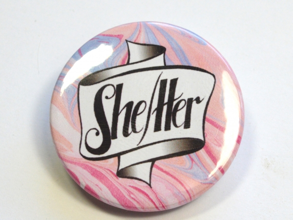 She-Her Pronoun Hand Lettered Badge