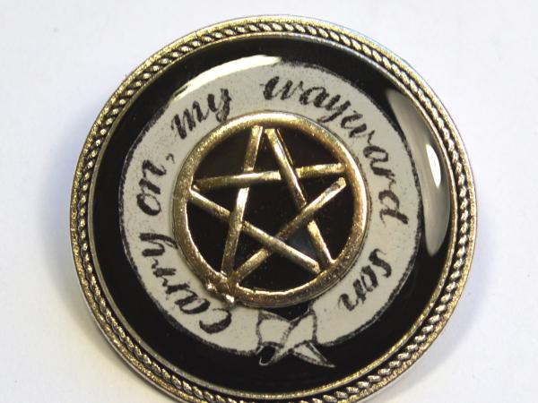 "Supernatural ""Carry On My Wayward Son"" Resin Brooch"