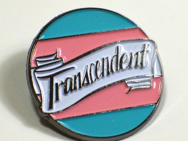 Transcendent Transgender Pride Enamel Pin LGBT Queer Trans Pride