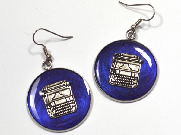 Silver Typewriter Earrings Author Gift Writer Gift