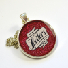 """Doctor Who River Song """"Spoilers"""" Resin Pendant"""