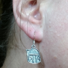 Boba Fett Bounty Hunter Star Wars Silver Earrings