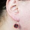 Deadpool SIlver Earrings