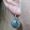 Jedi Order Symbol Star Wars Silver Earrings