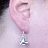 Klingon Empire Star Trek Silver Earrings