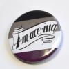 Ace Pride Asexual Pride Pinback Button Badge