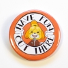 ACNH Animal Crossing Isabelle Have Fun Out There Hand Drawn Badge