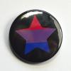 LGBTQIA Galaxy Bisexual Pride Star Badge