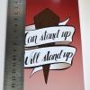 Buffy The Vampire Slayer BTVS 90s Retro Feminist Mini Print