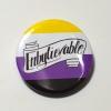 Non-Binary Genderqueer Genderfluid Enby Enbylievable Queer Pride Button Badge