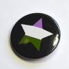 LGBTQIA Galaxy Genderqueer Pride Star Badge