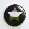 LGBTQIA Galaxy Genderqueer Pride Star Badge