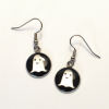 Cartoon Ghost Laser cut acrylic earrings