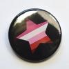 LGBTQIA Galaxy Lesbian Gay Pride Star Badge
