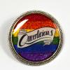 Queerlicious Queer Pride Rainbow Glitter Brooch