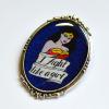 Retro Wonder Woman I Fight Like A Girl Portrait Brooch