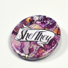 She-They Pronoun Badge Watermarble Hand Drawn