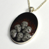 Skulls Bubbles Witch Gothic Handmade Pendant