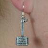 Thor Mjölnir Hammer Dangle Earrings